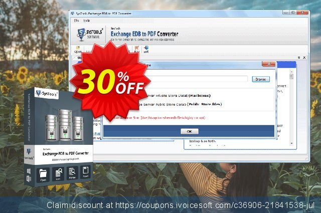 SysTools Exchange EDB to PDF Converter discount 20% OFF, 2020 New Year's Day offering sales