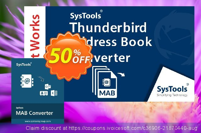 SysTools Thunderbird Address Book Converter  굉장한   프로모션  스크린 샷