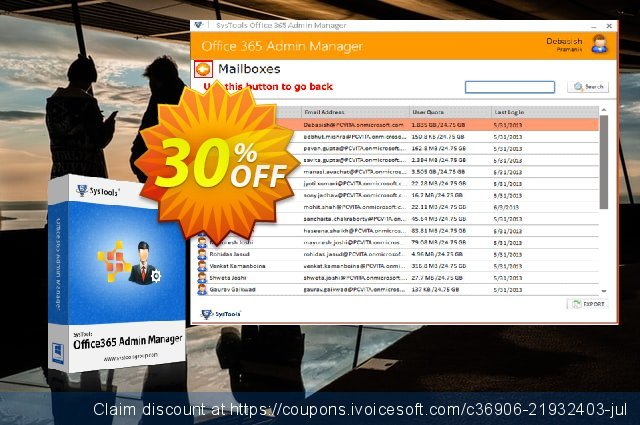 SysTools Office365 Admin Manager (Site License) 美妙的 优惠 软件截图