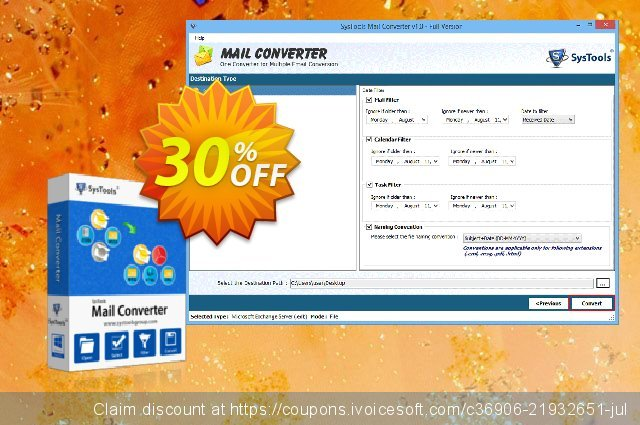 SysTools Mail Converter - Site License discount 20% OFF, 2019 Back to School deals offering sales