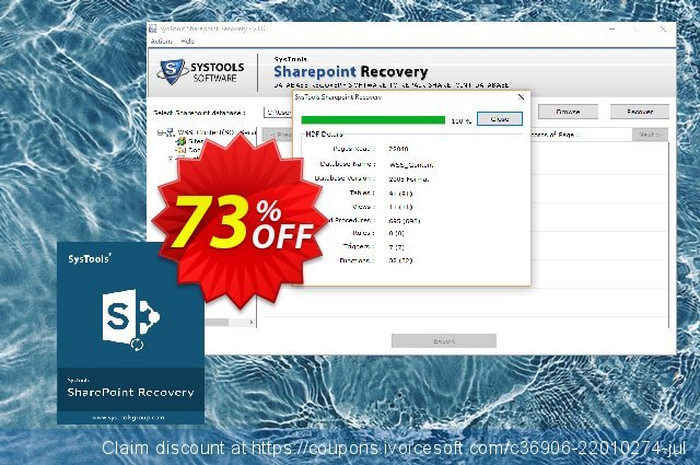 SharePoint Recovery (Personal License)最佳的促销销售 软件截图