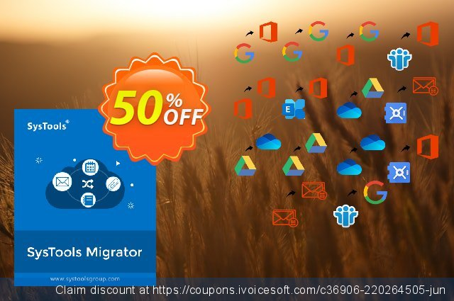 SysTools Migrator (Google Drive to Google Drive) discount 50% OFF, 2021 July 4th offering sales. 50% OFF SysTools Migrator (Google Drive to Google Drive), verified