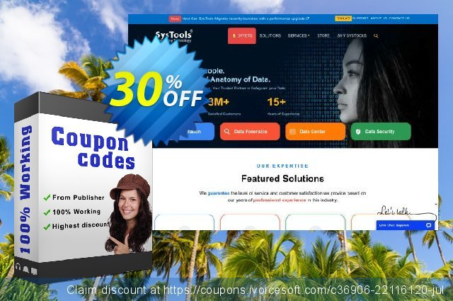 Bundle Offer - SysTools Add PST + Outlook Recovery + PST Password Remover 壮丽的 扣头 软件截图