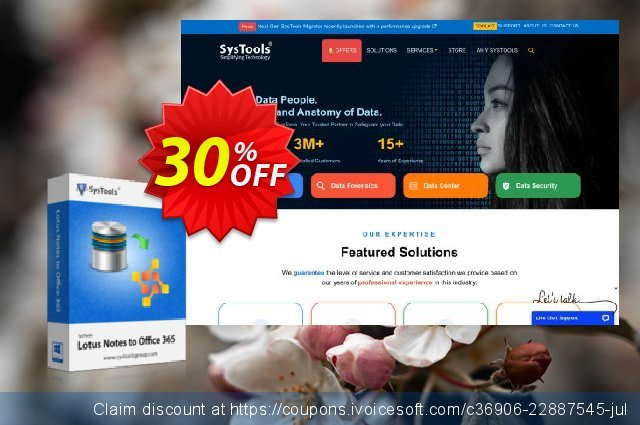 SysTools Mail Migration Office365 (5 User Licenses) discount 30% OFF, 2020 Back to School season discount
