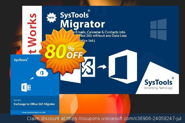 SysTools Exchange to Office365 Migrator (Site License) discount 30% OFF, 2019 Thanksgiving discount