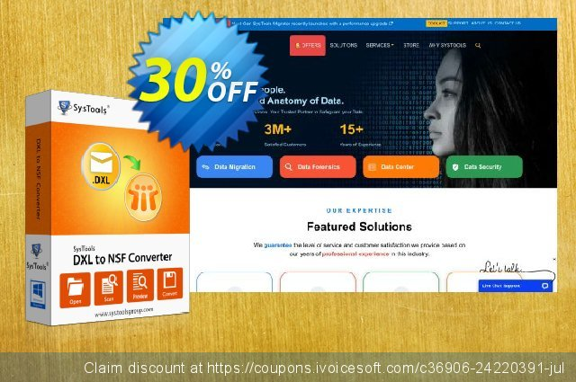 SysTools DXL to NSF Converter discount 30% OFF, 2020 Back to School deals discounts