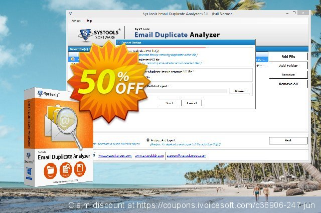 SysTools Email Duplicate Analyzer (Analyzer) 气势磅礴的 扣头 软件截图