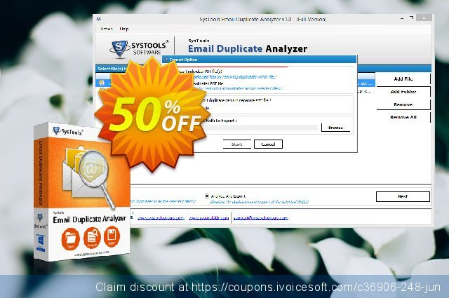 SysTools Email Duplicate Analyzer (Enterprise) discount 50% OFF, 2020 Xmas Day offering sales