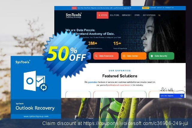 SysTools Outlook PST Recovery 优秀的 产品折扣 软件截图