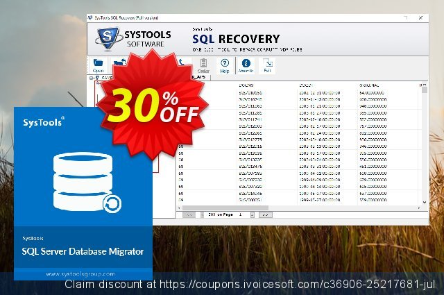 SysTools SQL Server Database Migrator discount 30% OFF, 2020 Halloween promotions