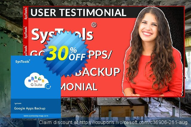 SysTools Google Apps Backup - 10 Users License惊人的优惠券 软件截图