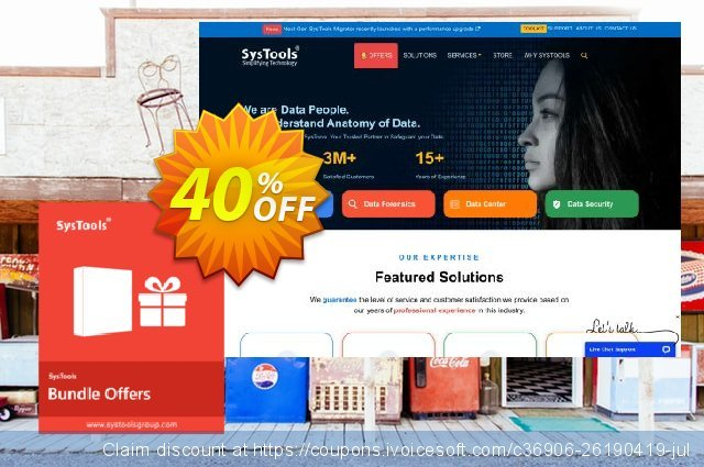 Bundle Offer - SysTools Gmail Backup + Outlook to G Suite 美妙的 折扣码 软件截图