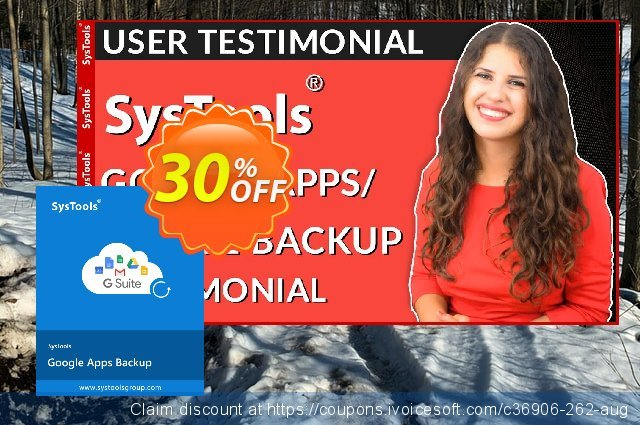 SysTools Google Apps Backup - 25 Users License  경이로운   세일  스크린 샷