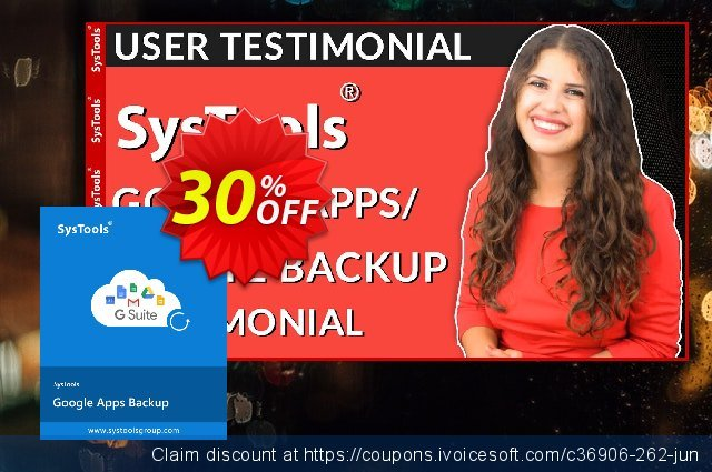 SysTools Google Apps Backup - 25 Users License  훌륭하   가격을 제시하다  스크린 샷