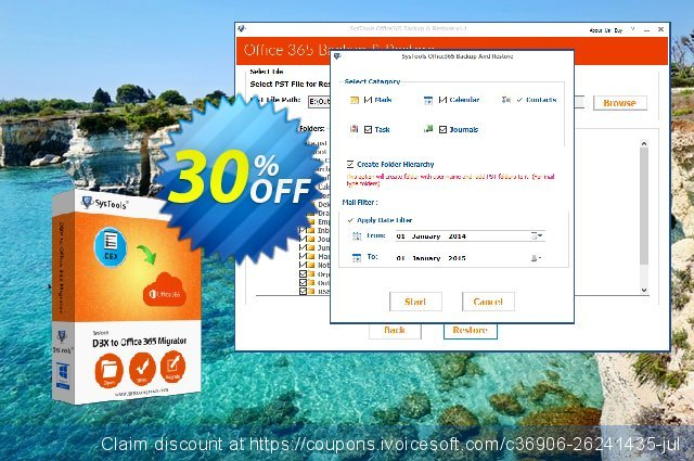 SysTools DBX to Office 365 Migrator discount 30% OFF, 2020 Back to School season offering sales