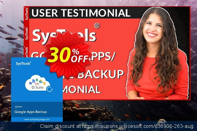 SysTools Google Apps Backup - 50 Users License 惊人的 折扣 软件截图