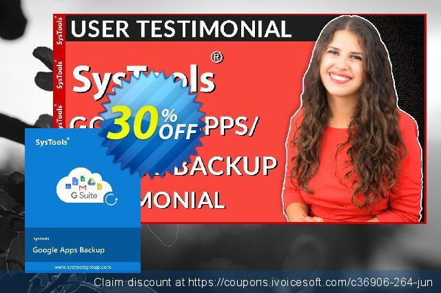 SysTools Google Apps Backup - 100 Users License 令人敬畏的 销售折让 软件截图