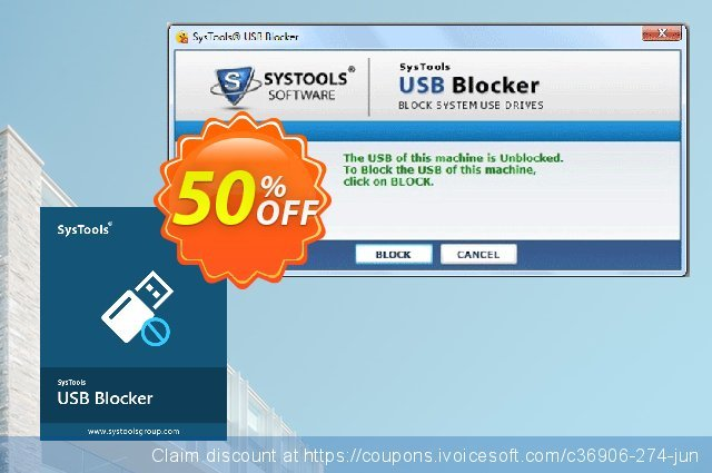 SysTools USB Blocker discount 30% OFF, 2020 Back to School promo offering sales