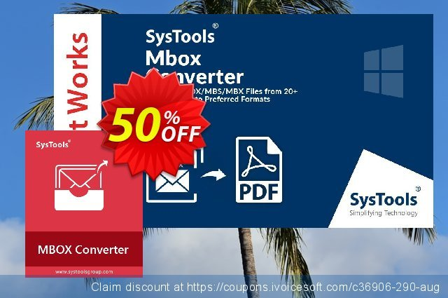 SysTools MBOX Converter discount 30% OFF, 2021 Earth Hour promo sales