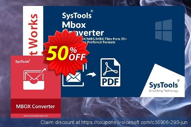 SysTools MBOX Converter discount 30% OFF, 2019 Halloween offering sales