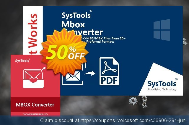 Systools MBOX Converter (Business License) 独占 扣头 软件截图