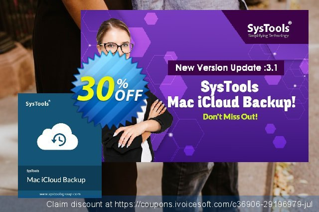 SysTools Mac iCloud Backup discount 25% OFF, 2020 Black Friday offering sales