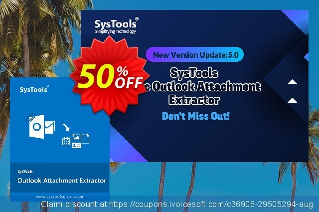 SysTools Outlook Attachment Extractor for MAC 特別 キャンペーン スクリーンショット