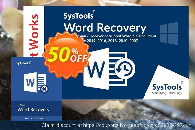 SysTools Word Repair (Business) 壮丽的 交易 软件截图