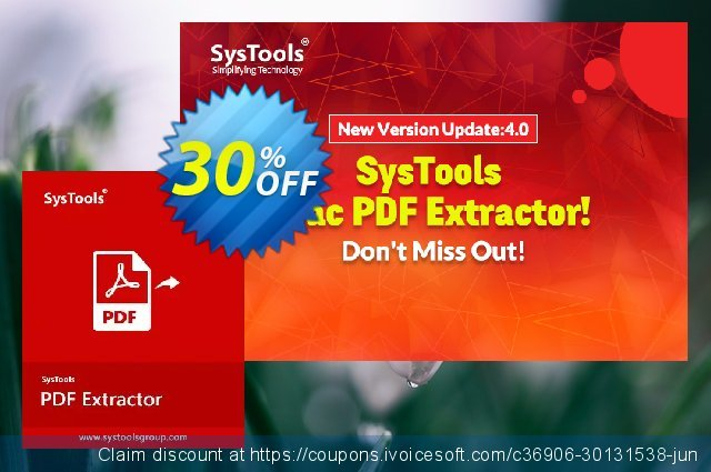 SysTools PDF Extractor for MAC 独占 扣头 软件截图