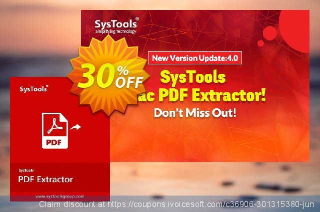 SysTools PDF Extractor for MAC (Business License)  위대하   촉진  스크린 샷