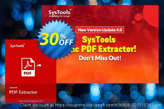 SysTools PDF Extractor for MAC (Enterprise License)  훌륭하   매상  스크린 샷