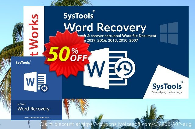 SysTools DOCX Repair discount 30% OFF, 2020 Back to School coupons offering sales