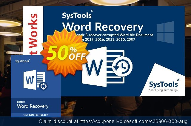 SysTools DOCX Repair (Business License) discount 64% OFF, 2019 Halloween promo