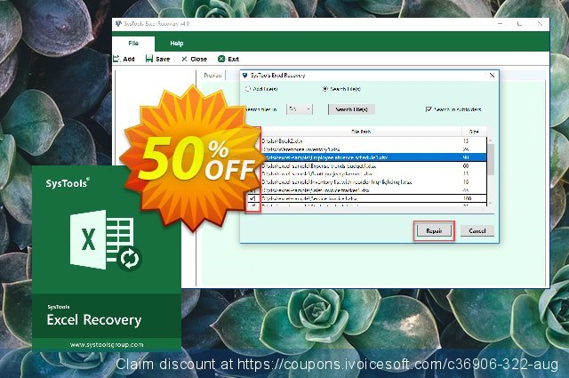 SysTools XLSX Recovery (Enterprise) discount 20% OFF, 2020 4th of July offering sales