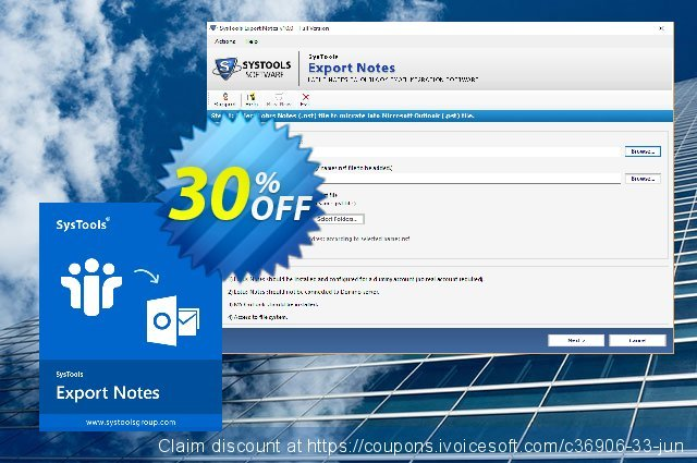 SysTools NSF to PST Converter (Export Notes Multi-user) discount 30% OFF, 2019 End year promo sales