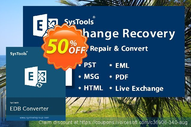 SysTools Exchange EDB to EML Converter (Enterprise)令人惊奇的折扣 软件截图