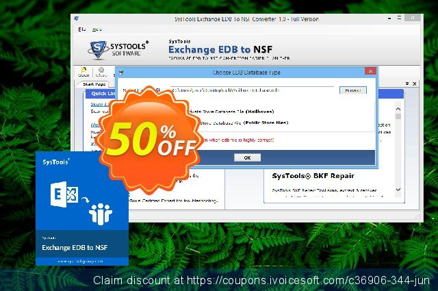 SysTools Exchange EDB to NSF Converter  대단하   제공  스크린 샷