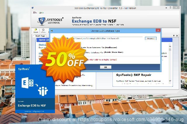 SysTools Exchange EDB to NSF Converter (Enterprise) discount 30% OFF, 2020 Exclusive Student deals offering sales