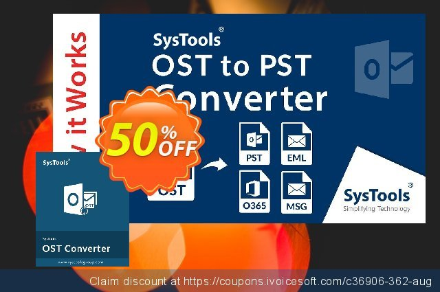 SysTools Outlook OST to NSF Converter  경이로운   프로모션  스크린 샷