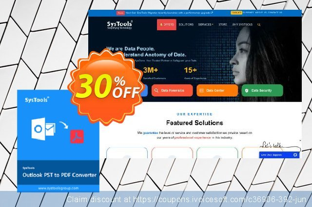 Get 25% OFF SysTools Outlook PST to PDF Converter offering sales