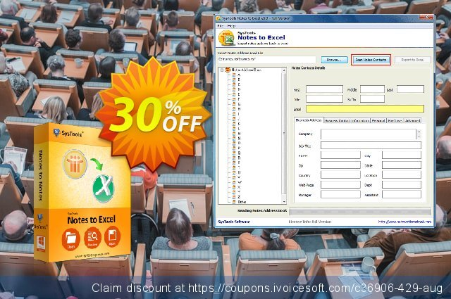 SysTools Notes to Excel (Business) discount 20% OFF, 2020 July 4th discounts