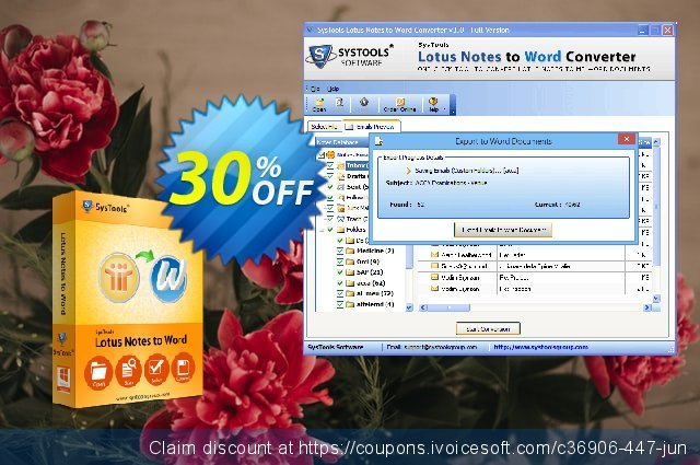 SysTools Lotus Notes to Word (Business)  굉장한   촉진  스크린 샷