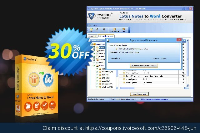 SysTools Lotus Notes to Word (Enterprise) discount 20% OFF, 2020 Summer discounts