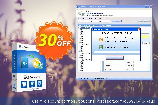 SysTools WAB Converter discount 20% OFF, 2020 July 4th offering sales