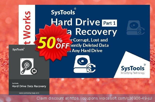 SysTools Hard Drive Data Recovery discount 20% OFF, 2020 July 4th promotions