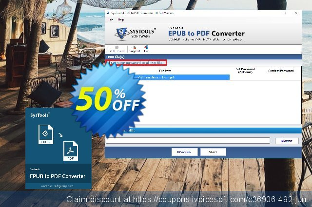 SysTools EPUB to PDF Converter (Enterprise)  특별한   제공  스크린 샷