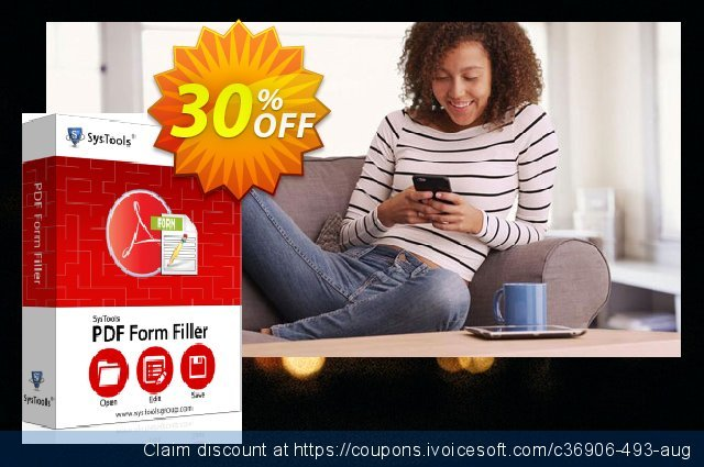 SysTools PDF Form Filler discount 30% OFF, 2020 Halloween promo