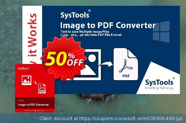 SysTools Image to PDF Converter discount 50% OFF, 2019 University Student offer offering sales