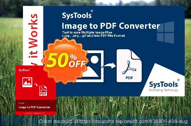 SysTools Image to PDF Converter (Enterprise) discount 50% OFF, 2020 Halloween offering sales