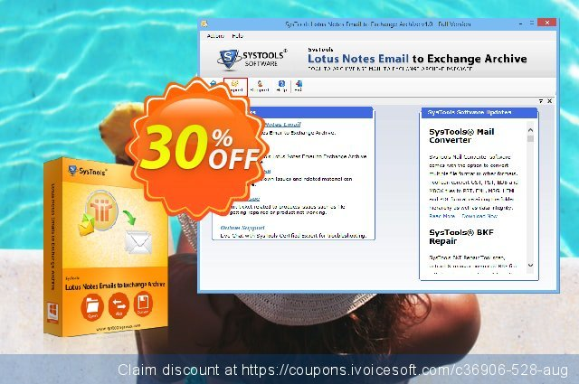 SysTools Lotus Notes Emails to Exchange Archive - Site license 大的 促销 软件截图
